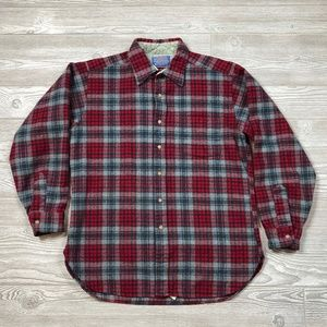 VTG Pendleton Wool Plaid Button Shirt Men's L C86